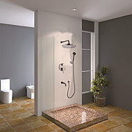 Sprchová baterie - Současné - Dešťová sprcha / Včetne sprchové hlavice - Mosaz ( Pochromovaný )