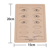 BaseKey 15PCS xEyebrow- Lip Tattoo Fake Skin For Tattooing Practice 15 x 20cm Double Sided