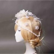 Women's Tulle / Fabric / Net Headpiece - Wedding / Special Occasion / Casual Birdcage Veils 1 Piece
