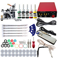 ITATOO® Complete Tattoo Kit with Gun Machine Tattoo Power Supply Needles Ink Tip Professional Tattoo Set