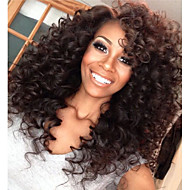 Fashion Curly Indian Human Hair Lace Front Wigs