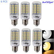 5W E14 / E26/E27 LED corn žárovky T 96 SMD 5730 330 lm Teplá bílá / Chladná bílá Ozdobné AC 220-240 / AC 110-130 V 6 ks