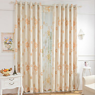Two Panels Europe Elegant Fashion High-Grade Cotton And Linen Jacquard Curtains