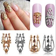 10ks 3d tipy art z lehké slitiny s dutou zdobení nehtů šperky třpytky drahokamu