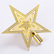 "5PCS/SET 15CM/6"" Christmas Tree Ornaments Outdoor Decorations Golden Star New Year Decoration Party Supplies Pendant"