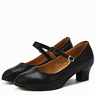 Latin Women's Dance Shoes Heels Leatherette Low Heel Gold/Silver/Black/Red