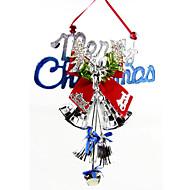 """cor aleatória 28 * 20cm / 11 * 7.9 """"merry christmas decorações maçaneta pendurado papai noel presente do xmas do jingle bell"""