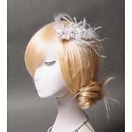 Damen Feder / Künstliche Perle / Stoff Kopfschmuck-Hochzeit / Besondere Anlässe / Freizeit Kopfschmuck 1 Stück