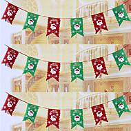 """6ks / sada 20 * 29cm / 7.9 * 11.4 """"vánoční dekorace vlajkosláva visí vlajka Santa Claus vánočními Pennant vlajky"""