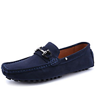 Men's Shoes Outdoor / Party & Evening / Athletic / Casual Suede / Patent Leather Loafers Black / Blue
