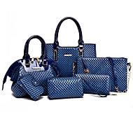 Women PU Formal / Casual / Event/Party / Wedding / Office & Career / Shopping Shoulder Bag / Tote / Bag Sets Blue / Brown / Black