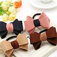 Fabric Double Bow Hair Ring Hair Rope