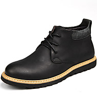 Men's Shoes Outdoor / Athletic / Casual Leather Boots Black / Taupe