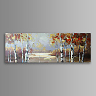 Asetelma / Landscape / Kasvitiede / Moderni Canvas Tulosta One Panel Valmis Hang , Horizontal