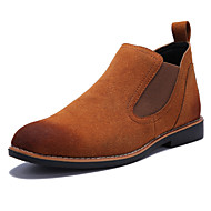 Men's Boots Spring Fall Winter Comfort Leatherette Outdoor Casual Flat Heel Black Yellow Gray