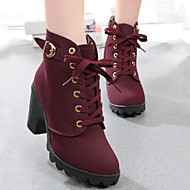 Women's Shoes Flange Round Toe Leisure Chunky Heel Bootie / Comfort Boots Dress / Casual