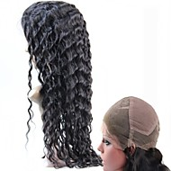 """10""""-30""""Brazilian Human Hair Full Lace Wigs Body Wave Natural Color 130% Density Swiss Lace Full Wigs"""