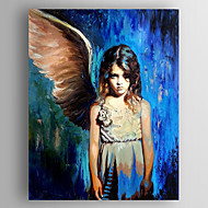 Oil Painting a Girl with a Wing Hand Painted Canvas with Stretched Framed