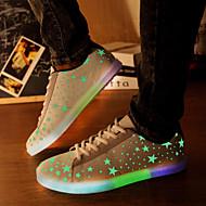 ster fluorescentie-emissie mannen en vrouwen geleid schoenen usb opladen