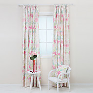 Two Panels Pastoral Country Poly Cotton Floral Botanical Print Curtains Drapes