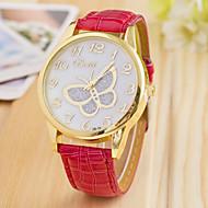 L.WEST Fashion High-end Diamonds Butterfly Quartz Watch Strap Watch