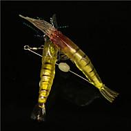 10Pcs/Bag 10cm/6g Luminous Pearl Soft Big Shrimp Bait Shrimp Soft Lures Wholesale