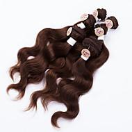 Cabelo Humano Ondulado Cabelo Brasileiro Onda de Corpo 12 meses tece cabelo