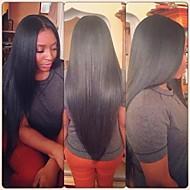 """10 """"-28"""" color natural del cordón del pelo humano pelucas llenas brasileño seda pelo virginal recta peluca llena del cordón para las"""