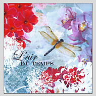 peintures à l'huile de style de fleurs, matériel de toile avec cadre étiré prêt à accrocher taille: 70 * 70cm.