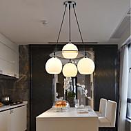 #(60W) מנורות תלויות ,  מודרני / חדיש Electroplated מאפיין for LED זכוכית חדר שינה / חדר אוכל / חדר עבודה / משרד