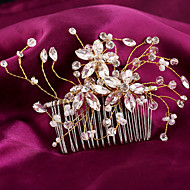 Bergkristal / Imitatie Parel Vrouwen / Bloemenmeisje Helm Bruiloft / Speciale gelegenheden Haarkammen Bruiloft / Speciale gelegenheden1