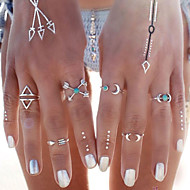 Prstenje sa stavom Tirkiz Moda Personalized Tirkiz Legura MOON Sidro Pink Zlatan Jewelry Za Party Dnevno Kauzalni Plaža 6pcs