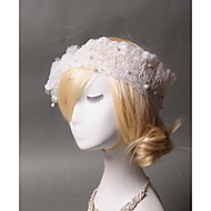 Women's Lace / Tulle / Imitation Pearl Headpiece - Wedding / Special Occasion Headbands 1 Piece