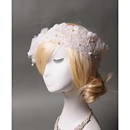 Dame Blonde Tyl Imiteret Perle Medaljon-Bryllup Speciel Lejlighed Afslappet Pandebånd 1 Stykke