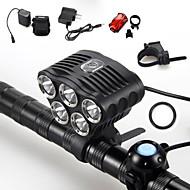 Sykkellykter LED 5 Modus 6000 Lumens Vandtæt / Oppladbar / Nedslags Resistent / Strike Bezel / Taktisk / Nødsituasjon Cree XM-L T6 18650