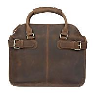 Unisex Cowhide Casual / Outdoor / Office & Career / Shopping Shoulder Bag / Casual Vintage / Laptop Bag - Brown