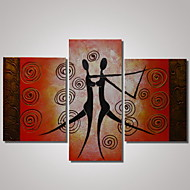 3 Panels 100% Hand Painted Modern Oil Painting The Dancing Woman and Man Abstract Wall Art  Ready to Hang