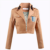 Inspired by Attack on Titan Eren Jager Anime Cosplay Costumes Cosplay Tops/Bottoms Solid Pink Top
