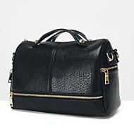 VENETA® Women PU Barrel Shoulder Bag / Tote - Black