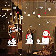 Window Stickers Window Decals Style Christmas Small Snowman Window Glass Decoration PVC Window stickers