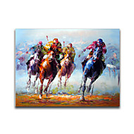 IARTS®The Derby Stallion Competition Colorful Handmade Stretched Oil Painting Free Shiping