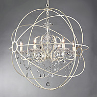 MAX:60W Chandelier ,  Vintage Painting Feature for Crystal Metal Dining Room / Study Room/Office / Entry / Hallway