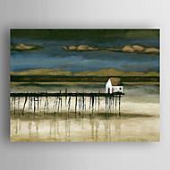 pittura ad olio impressione paesaggio mano tela dipinta con Stretched incorniciato pronto da appendere