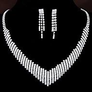 European Style Fashion Shiny Rhinestone Necklace Earring Set Bridal Set