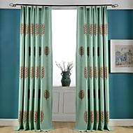 zwei Panele Rustikal / Modern / Neoklassisch Blumen / Pflanzen Multi-color Schlafzimmer Poly /  Baumwollmischung Flächenvorhänge Vorhänge
