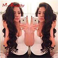 """10 """"-26"""" india ondulado pelo virginal peluca llena del cordón&encaje multicolor peluca delantera opcional con el pelo del bebé para"""