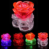 6,2 * 6,7 cm święta kryształ róża doprowadziło baterii mała lampka nocna lampa LED 1szt