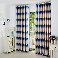 Twee panelen Window Behandeling Mediterraans , Welving Polyester Materiaal Curtains Drapes Huisdecoratie For Venster