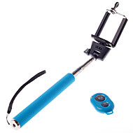 trådløs bluetooth selvportrett monopod justerbar stokk pole for iphone andriod mobie telefoner med fjernkontroll