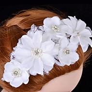 Women's Satin / Lace / Rhinestone / Imitation Pearl Headpiece - Wedding / Special Occasion Flowers